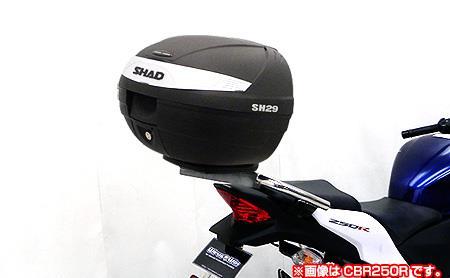 CBR125R(EBJ-JC50) SHAD製リアボックス付 タンデムバー ウイルズウィン(WirusWin)