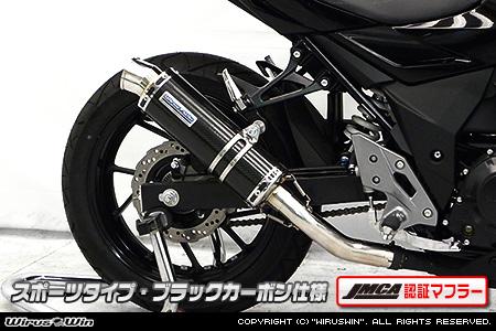 GSX250R(2BK-DN11A) スリップオンマフラー スポーツタイプ ブラックカーボン(JMCA認証マフラー) ウイルズウィン(WirusWin)