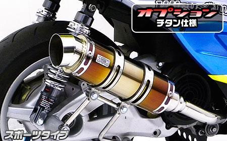 Mio125MX・Mio125GP ロイヤルマフラー スポーツタイプ チタン仕様 ウイルズウィン(WirusWin)