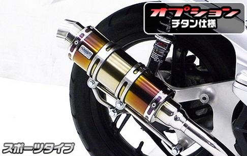 PCX125(JF56) ロイヤルマフラー スポーツタイプ チタン仕様 ウイルズウィン(WirusWin)