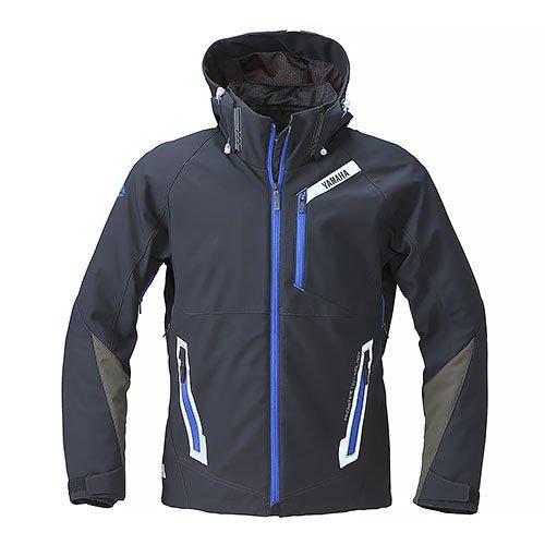 RSタイチ(TAICHI)コラボ ソフトシェルオールシーズンジャケット YAF57-R ブラック/ブルー XXLサイズ YAMAHA(ヤマハ・ワイズギア)