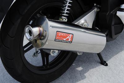 YAMAMOTO PCX125(JF28)eSP車 RACING(ヤマモトレーシング) SUSフルエキゾースト オーバルマフラー JMCA認証