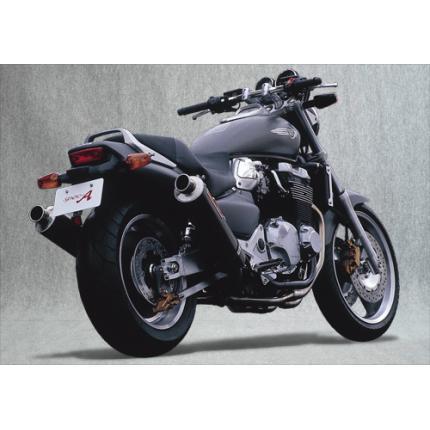 SPEC-A ステンレスマフラー4-2-1-2カーボンサイレンサー2本出し YAMAMOTO RACING(ヤマモトレーシング) X-4