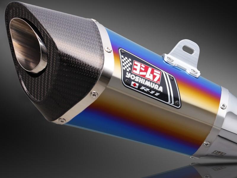 Z250(13年~) スリップオンマフラー R-11 サイクロン 1エンド EXPORT SPEC 政府認証 STB (チタンブルーカバー) YOSHIMURA(ヨシムラ)