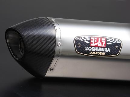 CB1300SB(14年~) スリップオンマフラー R-77Sサイクロン LEPTOS ステンレスカバー/カーボンエンドタイプ YOSHIMURA(ヨシムラ)