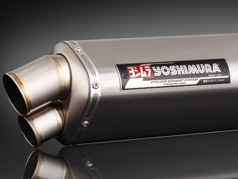 GSX1300R(隼)08年~ Tri-Ovalチタンサイクロン 2エンド TT (チタンカバー) フルエキゾーストマフラー YOSHIMURA(ヨシムラ)
