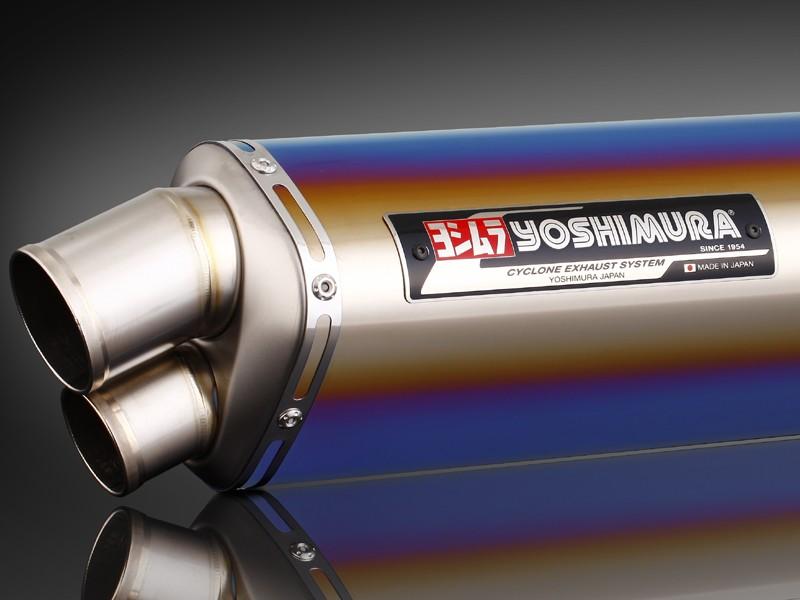 GSX1300R(隼)08年~ Tri-Ovalチタンサイクロン 2エンド TTB (チタンブルーカバー) フルエキゾーストマフラー YOSHIMURA(ヨシムラ)