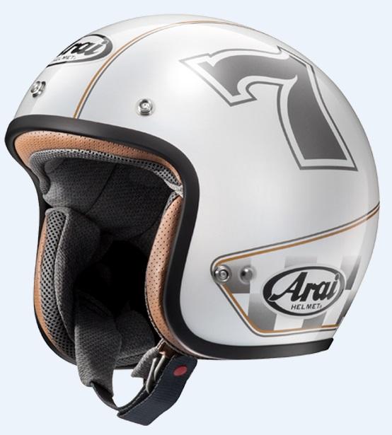 CLASSIC MOD カフェレーサーホワイト 57-58cm Mサイズ ジェットヘルメット(山城限定モデル) ARAI(アライ)