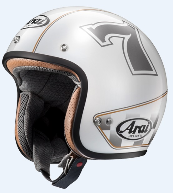 CLASSIC MOD カフェレーサーホワイト 61-62cm XLサイズ ジェットヘルメット(山城限定モデル) ARAI(アライ)