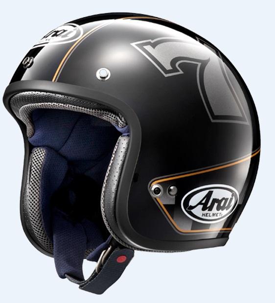 CLASSIC MOD カフェレーサーブラック 55-56cm Sサイズ ジェットヘルメット(山城限定モデル) ARAI(アライ)
