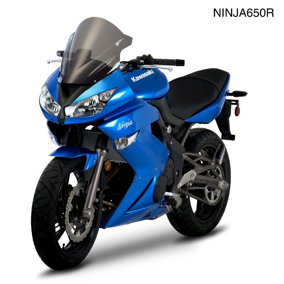 Ninja400R(ニンジャ400R)11~12年 スクリーン ダブルバブル ダークスモーク ゼログラビティ(ZERO GRAVITY)