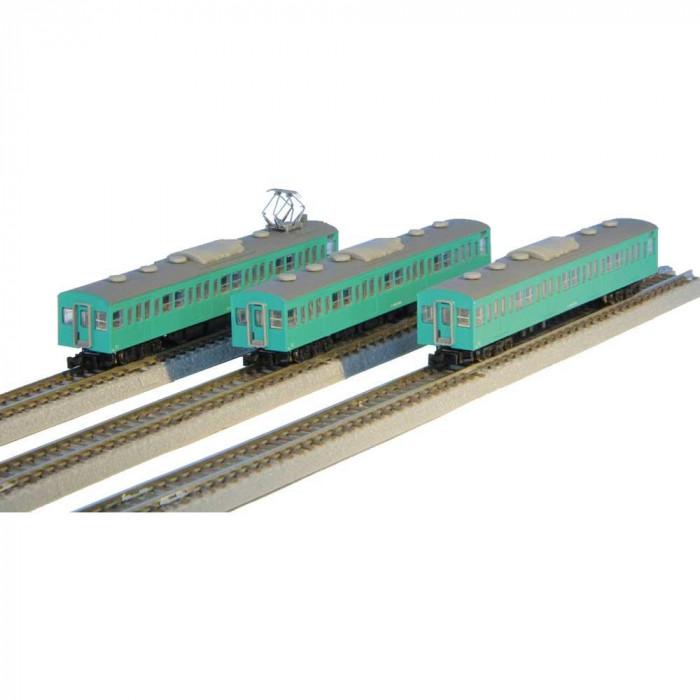 国鉄103系 エメラルドグリーン 常磐線タイプ 増結3両セット T022-10
