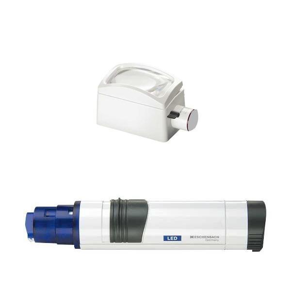 ヘッドとライト付グリップを組み合わせて使う置き型ルーペ 新作送料無料 エッシェンバッハ 置き型ライトルーペ 格安SALEスタート 3倍 1580-64