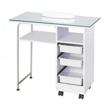 サロン向け ネイルテーブル リバース ホワイト 51531