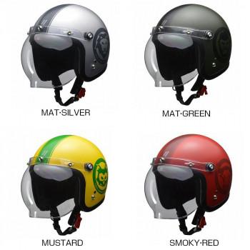 リード工業 MOUSSE ジェットヘルメット 70thアニバーサリーモデル フリーサイズ MAT・GREEN