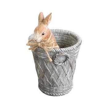 気質アップ 素敵にアレンジ かわ畑 フラワーポット 鉢カバー プランター ウサギ 1708SHU002 『4年保証』