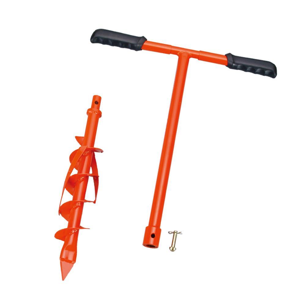 穴掘り作業が簡単にできるスパイラルボーラー 海外限定 スパイラルボーラー取替式75mm 爆売り 003