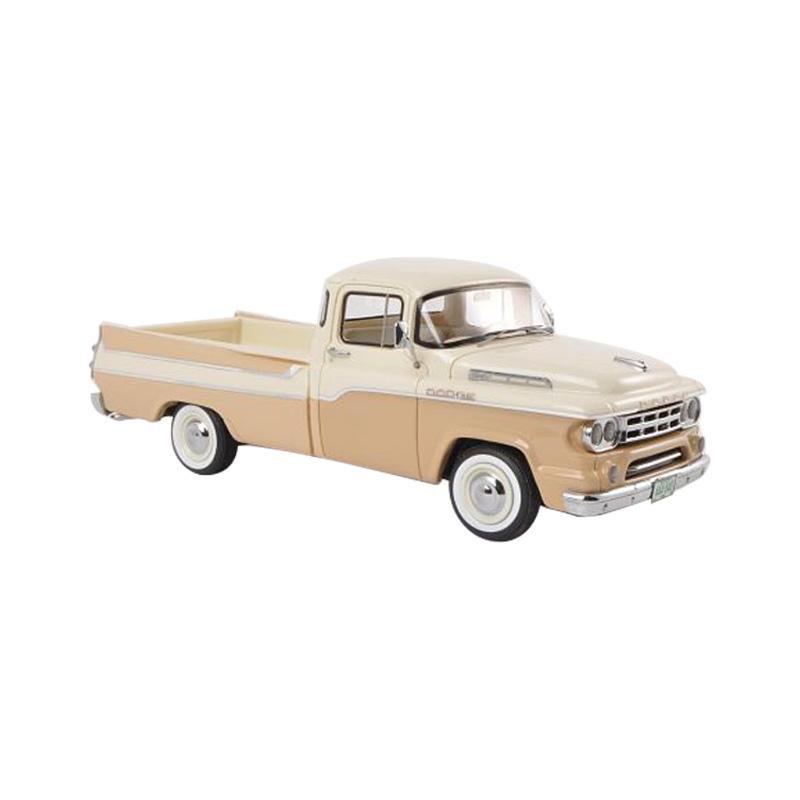 本物を忠実に再現したモデルカー メーカー公式ショップ NEO ネオ ダッジ D100 Sweptside ピックアップ 1 ベージュ ホワイト 新着セール NEO44840 43スケール 1959