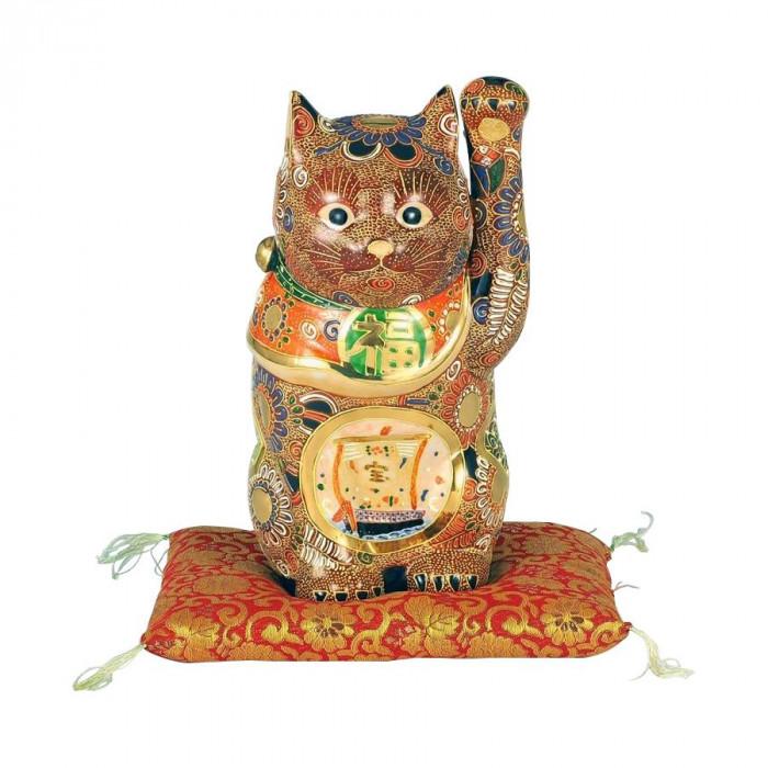 九谷焼 8号招猫 盛宝船 N193-07