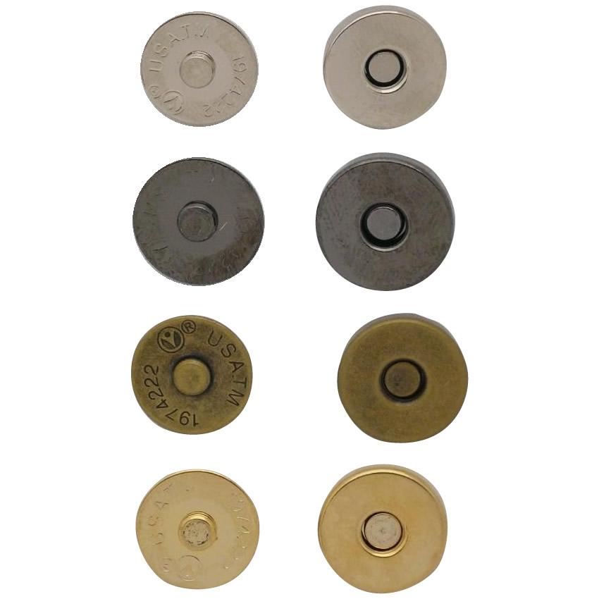 差し込みタイプのマグネットホック 流行のアイテム マグネットホック スタンダードシリーズ ゴールド 12mmタイプ×20個 M-72 メーカー再生品