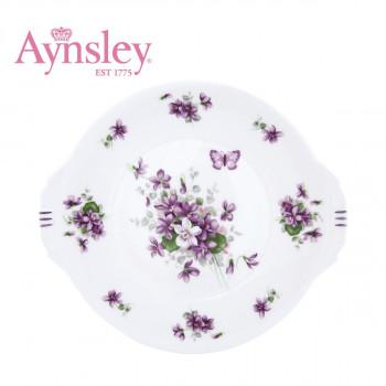 Aynsley(エインズレイ) イングリッシュバイオレット B&Bプレート(ブレッド&バター プレート) ENVI00806C