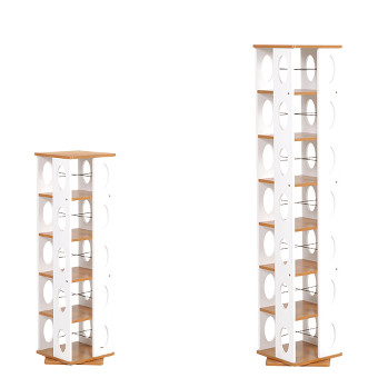 タワー型回転ラック ハイタイプ ナチュラル MUD-7181