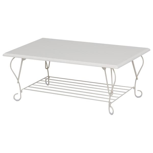 アイアンシリーズ 折れ脚テーブル スクエアタイプ(ホワイト)
