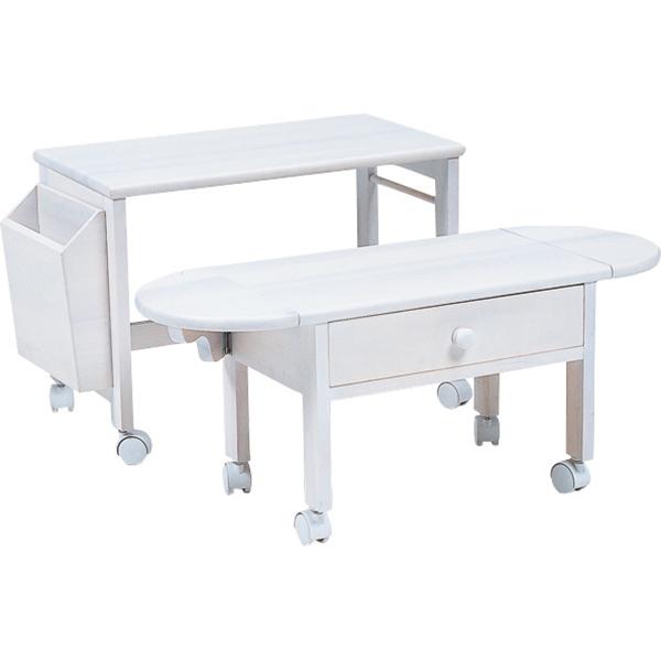 コンパクトパソコンテーブル(ホワイト) MT-2702WH