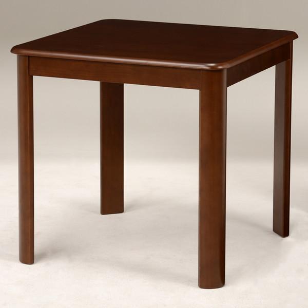丸角ダイニングテーブル(ダークブラウン) 幅75cm VDT-7683DBR