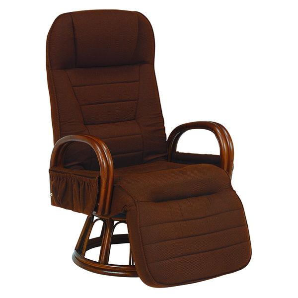フットレストリクライニング回転座椅子(ブラウン) RZ-1258BR