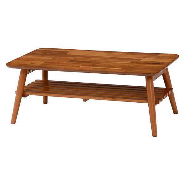折れ脚テーブル(ライトブラウン) MT-6921AC