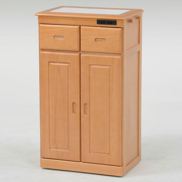 桐製キッチンカウンター(ナチュラル) スリムタイプ MUD-6132SNA