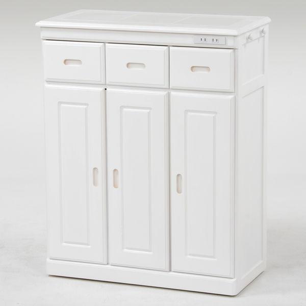 桐製キッチンカウンター(ホワイト) ノーマルタイプ MUD-6133WH