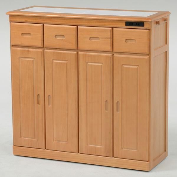 桐製キッチンカウンター(ナチュラル) ワイドタイプ MUD-6134SNA