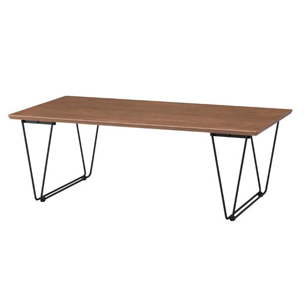 天然木&スチール製コーヒーテーブル END-221BR