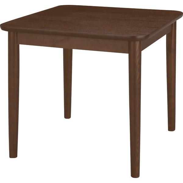 天然木ダイニングテーブル 幅75cm ブラウン HOT-332BR