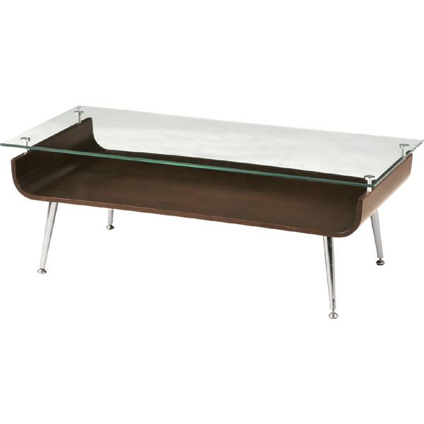 ガラス天板テーブル ブラウン NET-301BR