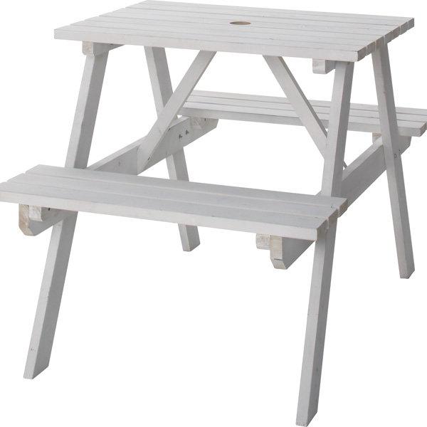 テーブル&ベンチ W75cm ホワイト ODS-91WH