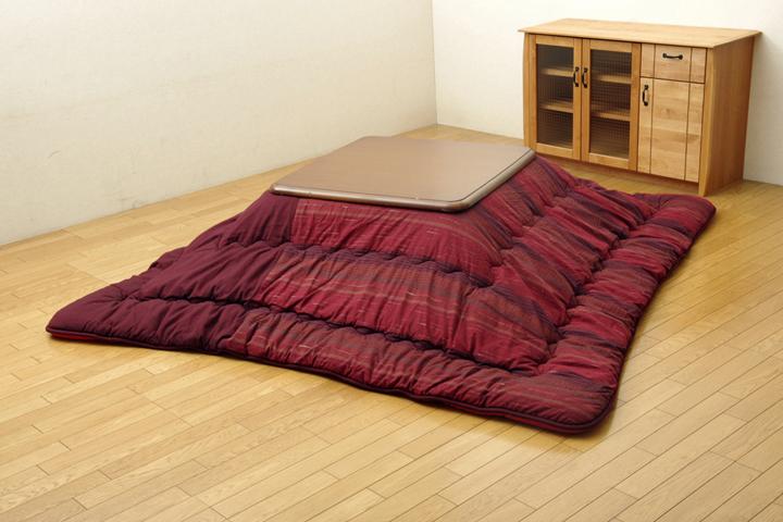 綿100% 無地調 国産 こたつ布団 『いろり』 茜(レッド) 215×255cm