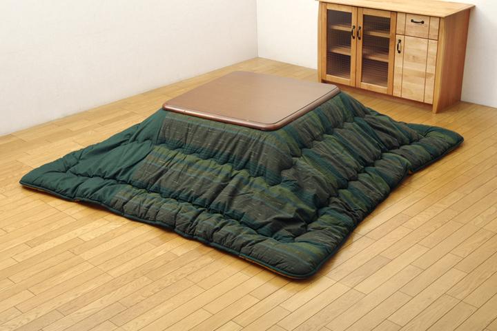 綿100% 無地調 国産 こたつ布団 『いろり』 萌黄(グリーン) 215×255cm