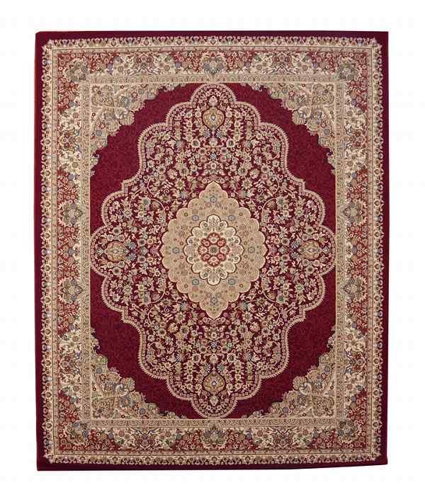 トルコ製 ウィルトン織り カーペット 『ベルミラ RUG』 ワイン 約160×230cm
