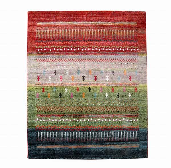 トルコ製 ウィルトン織り カーペット 『マリア RUG』 グリーン 約133×190cm