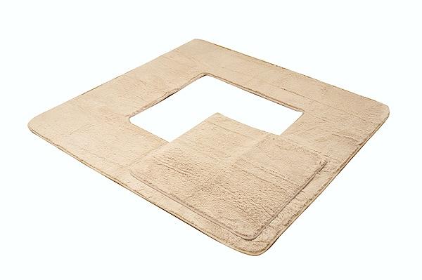 堀りごたつ ラグ カーペット 4畳 無地 『Hフィリップ堀』 ベージュ 約200×300cm(くり抜き部90×150cm) ホットカーペット対応
