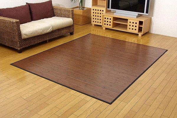 竹カーペット 無地 糸なしタイプ 『ユニバース』 ダークブラウン 140×200cm