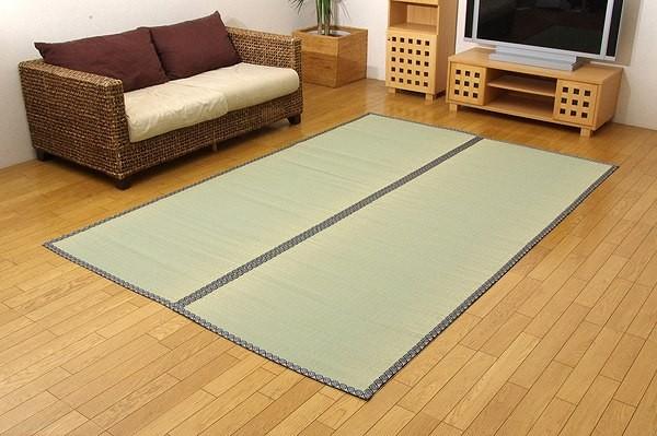 純国産 い草 上敷き カーペット 立花織 『桂浜』 江戸間6畳(約261×352cm)