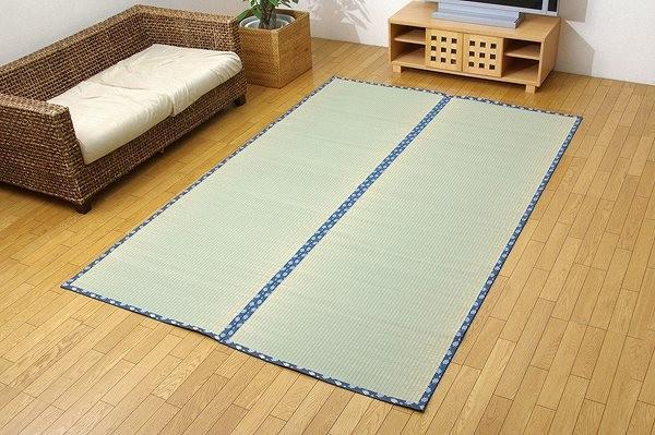 純国産 い草 上敷き カーペット 糸引織 『岩木』 三六間6畳(約273×364cm)