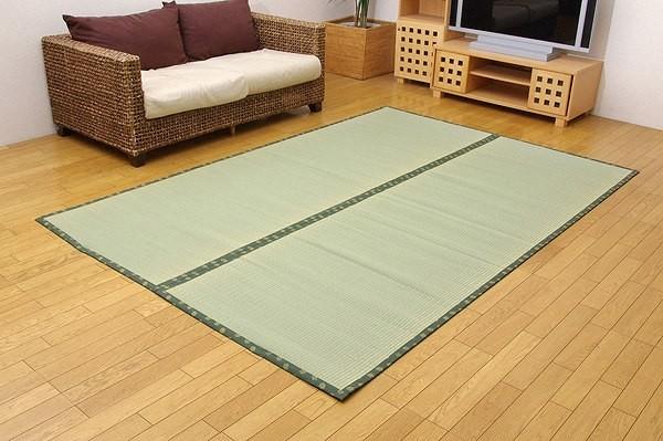 フリーカット い草 上敷き カーペット 『F竹』 本間3畳(約191×286cm)(裏:ウレタン張り)