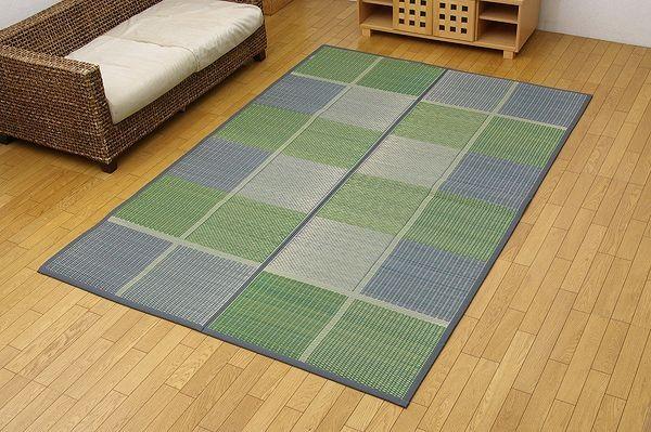 純国産 い草花ござ 『F)FUBUKI』 グリーン 江戸間6畳(約261×352cm)(裏:ウレタン)