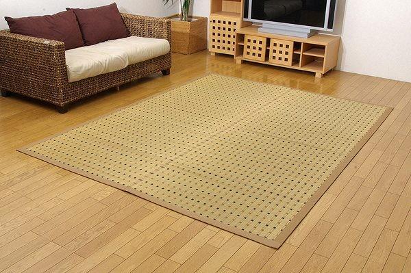 純国産 掛川織 い草カーペット 『スウィート』 江戸間2畳(約174×174cm)