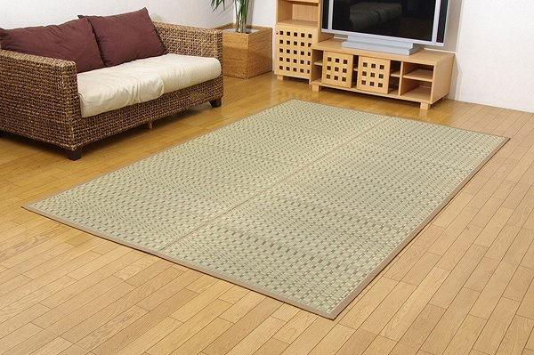 純国産 掛川織 い草カーペット 『奥丹後』 ベージュ 江戸間3畳(約174×261cm)